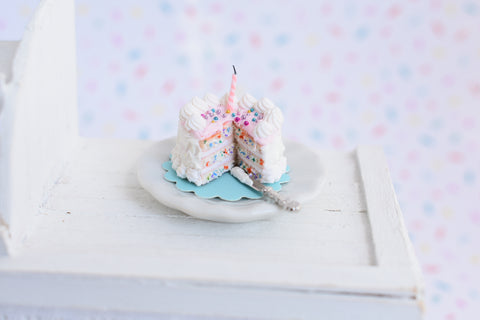 1:12 Scale Scented Dollhouse Miniature Funfetti Birthday Cake (QUARANTINE CAKE)