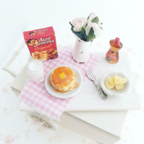 1:12 Scale Scented Miniature Pancake Set