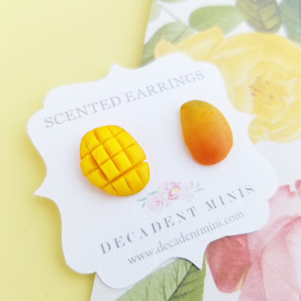Scented Mango Stud Earrings