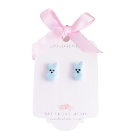 Scented Bunny Peeps Stud Earrings