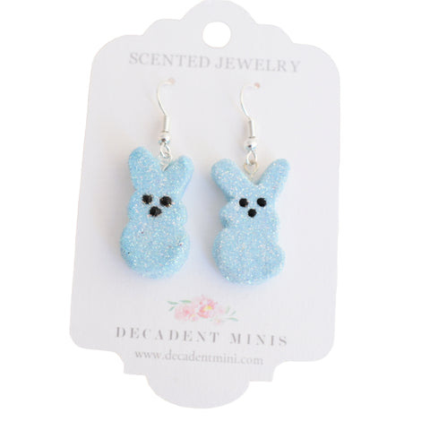 Scented Bunny Peeps Dangle Earrings