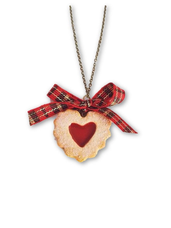 Scented Heart Shaped Linzer Cookie Necklace