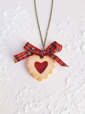 Scented Heart Shaped Linzer Cookie Necklace (wholesale)