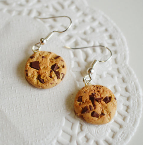 Scented Chocolate Chip Cookie Earrings