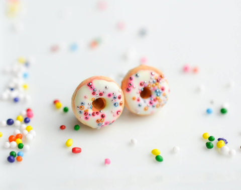 Scented Funfetti Donut Earrings