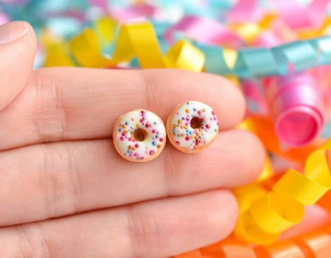 Funfetti Donut Earrings