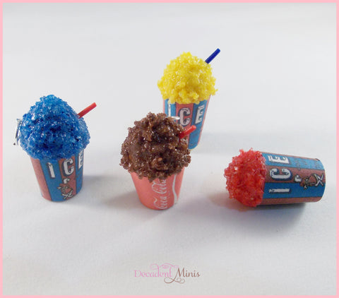Scented Icee inspired charm.Choose your flavor. Miniature food jewelry