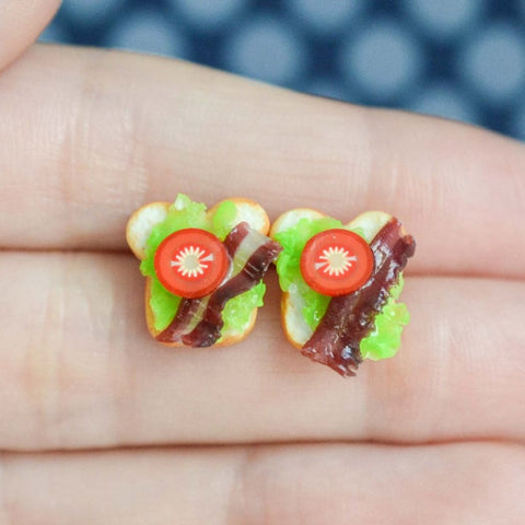 BLT Sandwich Earrings
