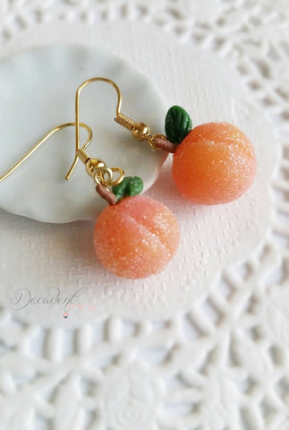 Scented Sugar Coated Georgia Peach Earrings