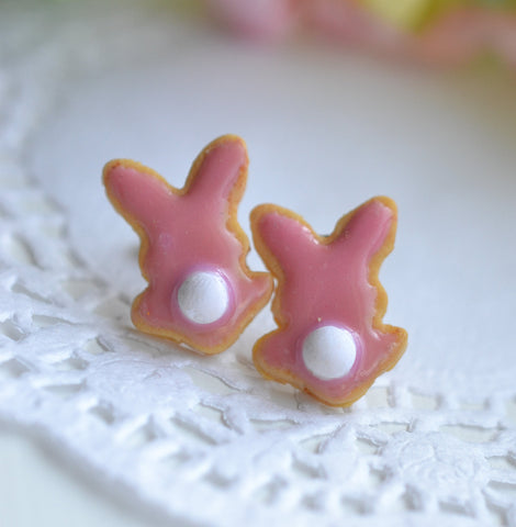 Scented Bunny Bum Sugar Cookie Earrings
