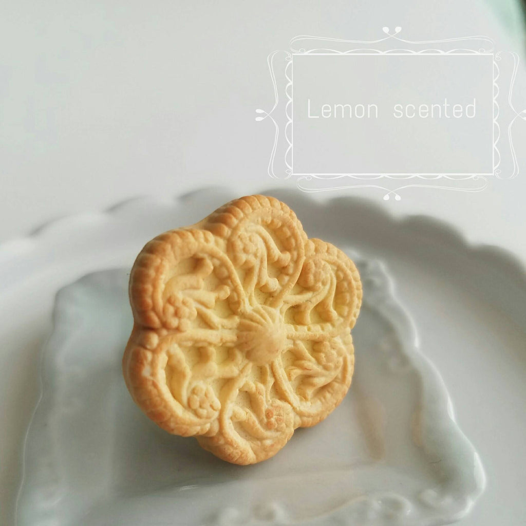 Scented Lemon Butter Cookie Ring Food Jewelry
