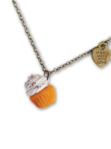 Pumpkin Spice Scented Cupcake Necklace (wholesale)