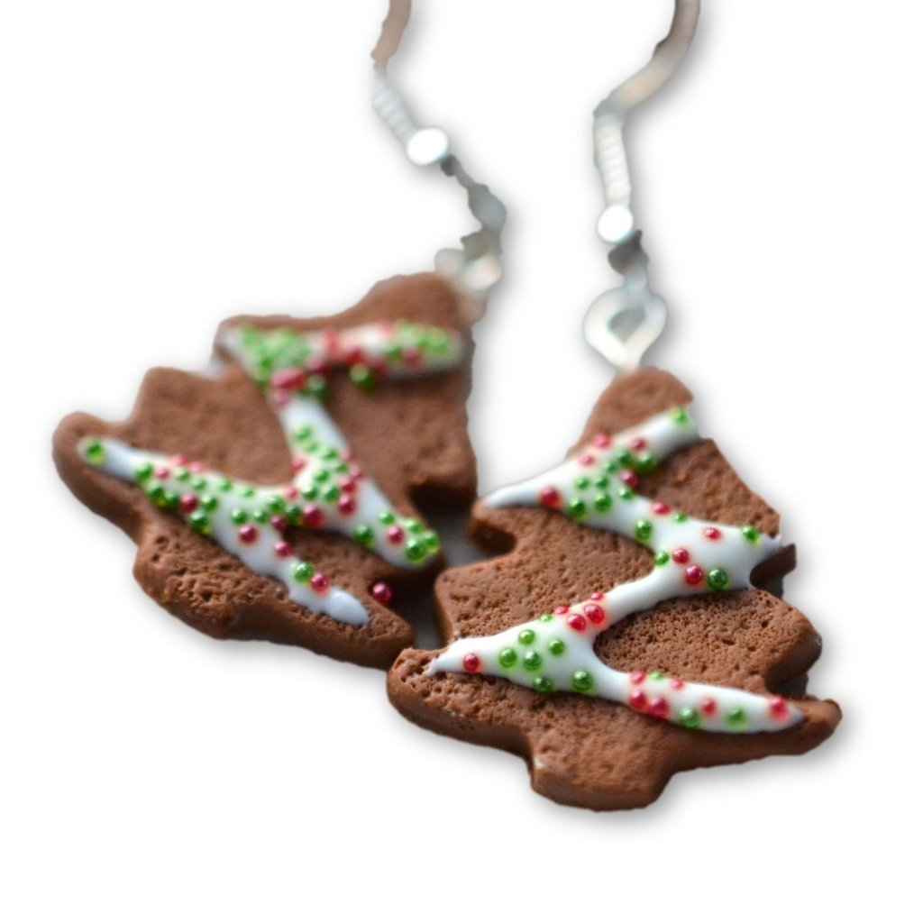 Scented Gingerbread Christmas Tree Earrings (wholesale)
