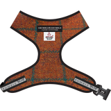 Adjustable Harris Tweed Harness - Blue/Copper Check