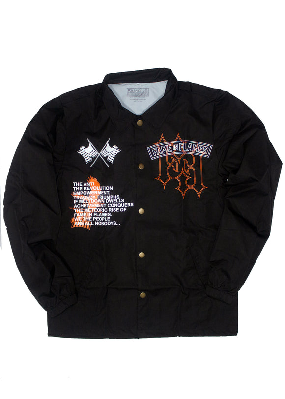 FAME IN FLAMES COACH JACKET (AMERICANA)