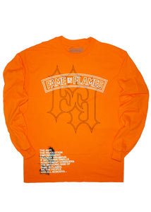 FAME IN FLAMES L/S TEE (AMERICANA)