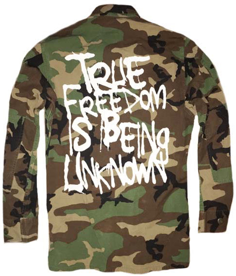 TRUE FREEDOM IS BEING UNKNOWN (CAMO)