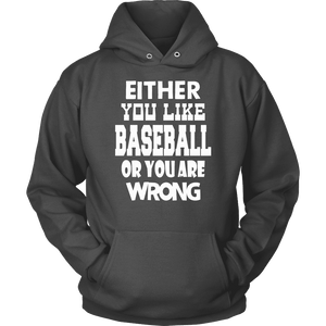Baseball Hoodie - Either You Like Baseball