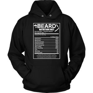 Beard Hoodie - Beard Nutrition Facts