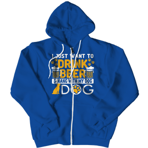 Beer and Dog-Zipper Hoodie-Spyder Deals
