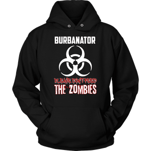 Burbanator Combo Shirt 2 - Please Don't Feed the Zombies-T-shirt-Spyder Deals