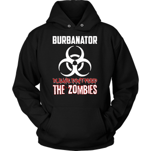 Burbanator - Please Don't Feed the Zombies-T-shirt-Spyder Deals