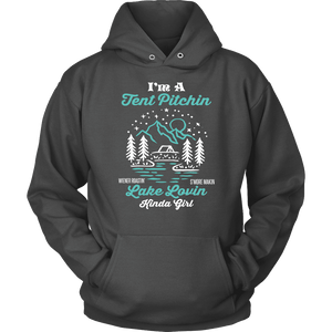 Camping Hoodie - Lake Loving Kind Of Girl
