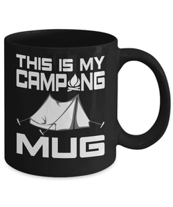Camping Mug | Black 11oz | This is My Camping Mug-Drinkware-Spyder Deals