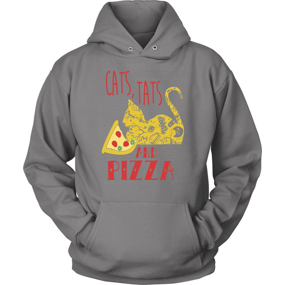 Cat Hoodie - Cats, Tats, And Pizza