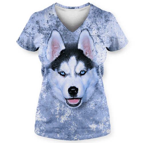 Dog Grunge-Sublimation Women's V-Neck-Spyder Deals