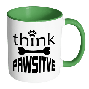 Dog Mug | Accent - Think Pawsitive-Drinkware-Spyder Deals