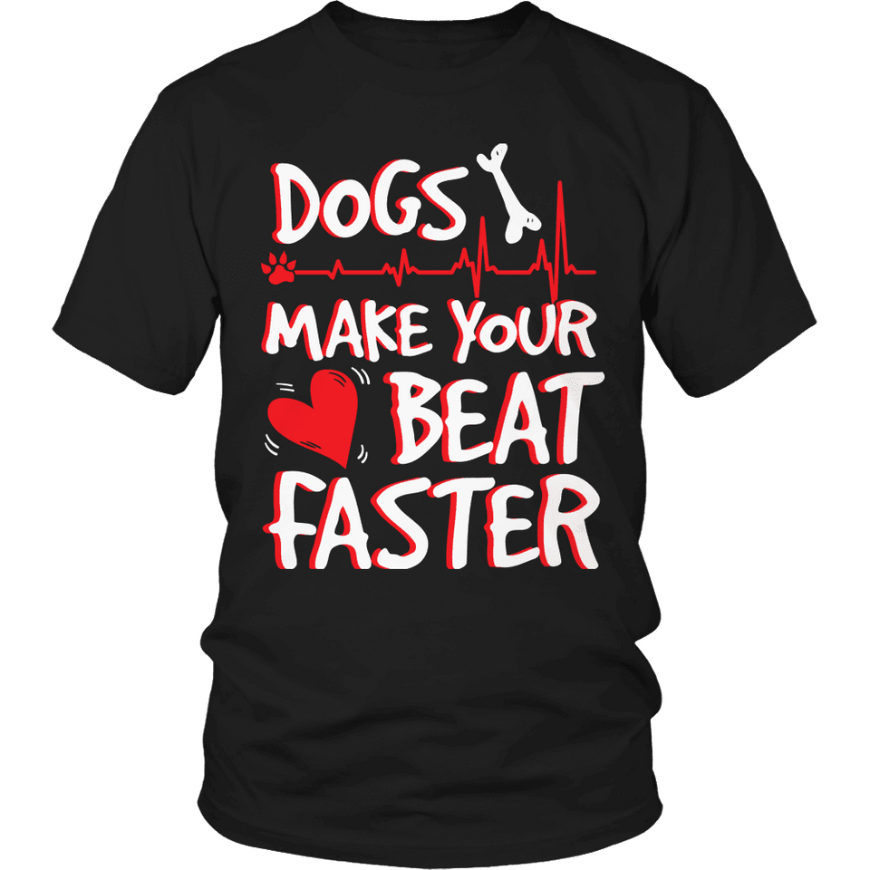 Dogs Make Your Heart Beat-T-shirt-Spyder Deals