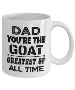 Fathers Day Coffee Mug Dad Birthday Gifts From Daughter Cute Funny Novelty Cup - Greatest Of All Time