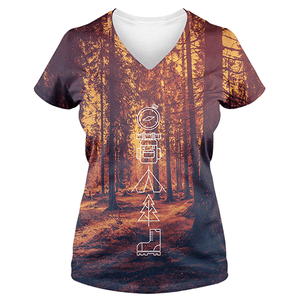 Forest Camp-Sublimation Women's V-Neck-Spyder Deals