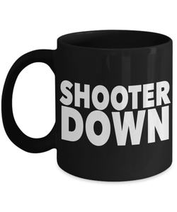 Gaming Mug | Black - Shooter Down-Coffee Mug-Spyder Deals