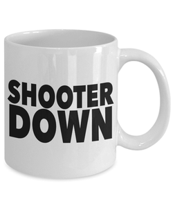 Gaming Mug | White - Shooter Down-Coffee Mug-Spyder Deals