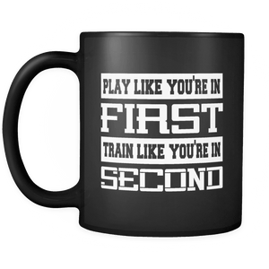 Hockey Mug | Black - Play Like You're in First-Drinkware-Spyder Deals