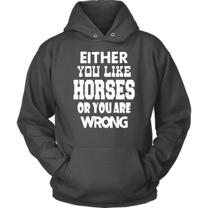 Horse Hoodie - Either You Like Horses