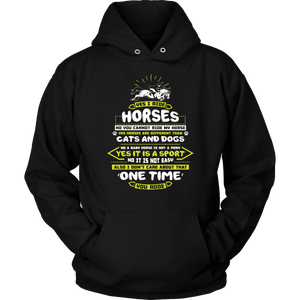 Horse Hoodie - Yes I Ride Horses