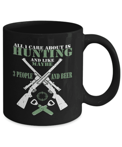Hunting Mug | Black - All I Care About Is Hunting-Coffee Mug-Spyder Deals