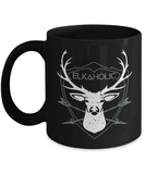 Hunting Mug | Black - Elkaholic-Coffee Mug-Spyder Deals