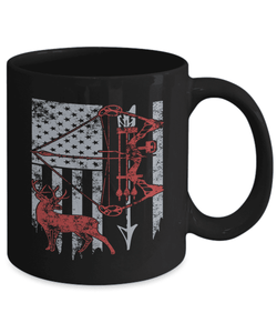 Hunting Mug | Black - Hunting Flag-Coffee Mug-Spyder Deals