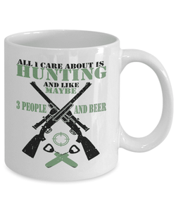 Hunting Mug | White - All I Care About Is Hunting-Coffee Mug-Spyder Deals