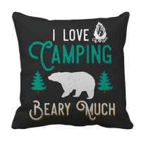I Love Camping Beary Much-Pillow Cases-Spyder Deals