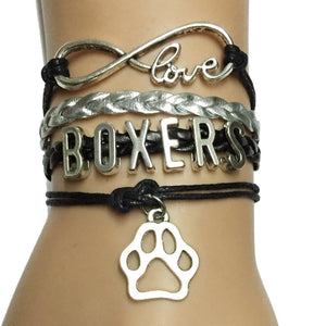 Infinity Love Boxers Dog Paw Bracelet-Retail-Spyder Deals