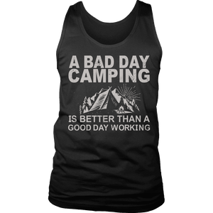 Limited Edition - A Bad Day Camping Is Better Than A Good Day Working-T-shirt-Spyder Deals