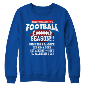 Limited Edition - Attention Ladies: It's Football Season!!!-Crewneck Fleece-Spyder Deals