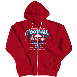 Limited Edition - Attention Ladies: It's Football Season!!!-Zipper Hoodie-Spyder Deals