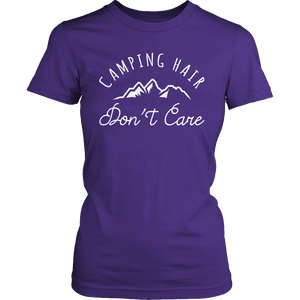 Limited Edition - Camping Hair Don't Care-T-shirt-Spyder Deals