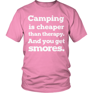 Limited Edition - Camping Is Cheaper Than Therapy-T-shirt-Spyder Deals